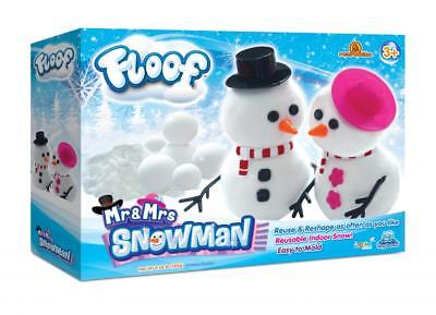 Floof! Mr and Mrs Snowman Box Fluffy White Indoor Snow Modelling Clay FL003