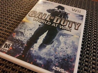 Call Of Duty: World At War (Nintendo Wii Game) CIB Complete SHIPS TODAY