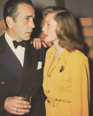 *humphrey Bogart Two Amazing Color Photos Lauren Bacall + Portrait*