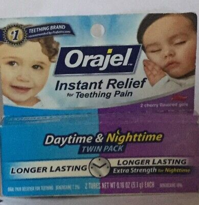 New Baby Orajel Instant Relief For Teething Pain Daytime & Nighttime  Gels 12/19