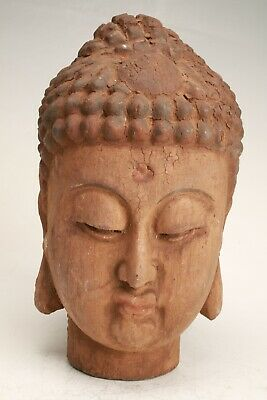 Chinese Wood Hand Carving Buddha Statue Decoration Collection Gift