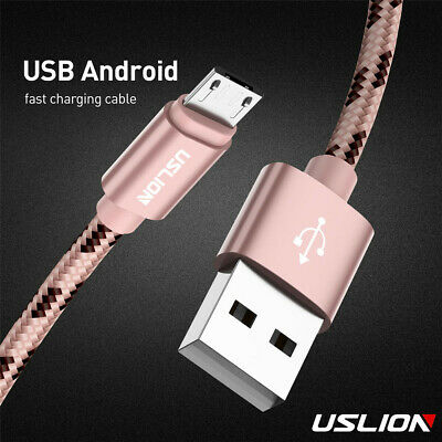 Braided Type-C & Micro USB Cable Fast Charging Data Sync Phone Cable For Android