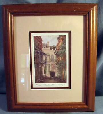 """Art By James Mccaffery Signed Limited Print """"madison St."""" 586/2000 New Orleans"""