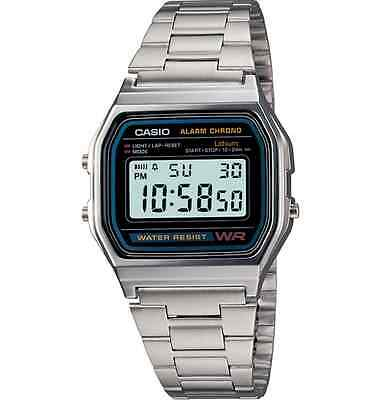 Casio A158WA-1, Classic Digital Watch, Chronograph, Alarm, Date, 7 Year Battery