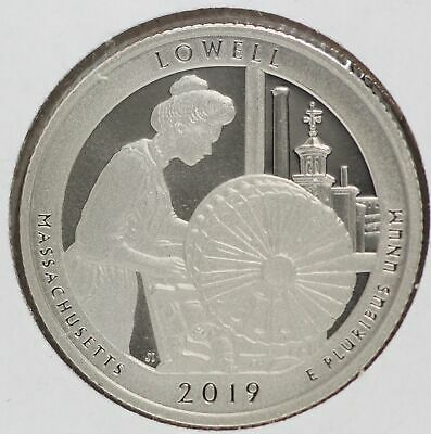 Lowell Massachusetts Clad Proof 2019 25C Washington Quarter ATB LE484