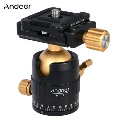 Andoer MT-C2 Compact Size Panoramic Tripod Ball Head Adapter 360° Rotation C2B3