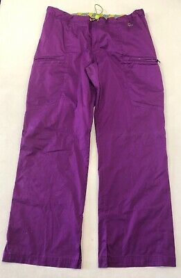2f9d12408ea Antidote Cargo Scrub Pants Medical Dr Nurse Zipper Pockets Purple Women's XL
