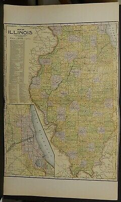 Illinois State Map 1921 Double Page J25#52