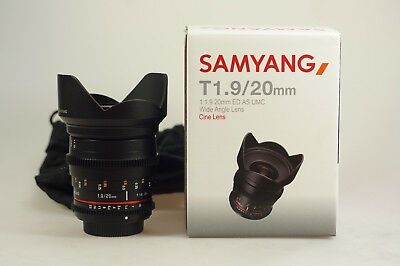 Samyang 20mm T1.9 VDSLR ED AS UMC Video für Sony A-Mount (incl. MwSt )