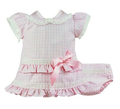 Pretty Originals - Pink/white 2 Piece Baby Girls Outfit Set New 3m to 12m (G49)