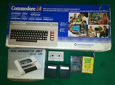 "COMMODORE c64 ""MADE IN ENGLAND"" U.K.B. 850787 IN SCATOLA ORIGINALE FUNZIONANTE"