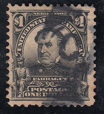 TDStamps: US Stamps Scott#311 $1 Farragut Used CV$95.00