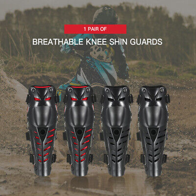 1 Pair of Knee Shin Guards Breathable Adjustable Knee Sleeve Cap Pads G4X2