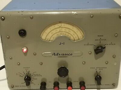 Advance AF Signal Generator Type J1 Made in England