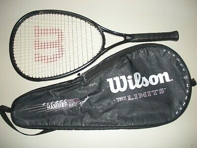 Wilson Sledge Hammer 3.4 The Limits Os 135 Tennis Racquet 4 1/2 (New Strings)