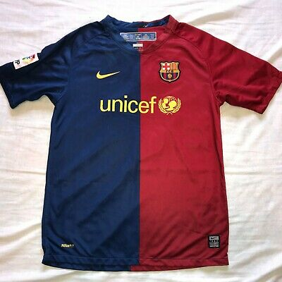 ee609fa8b Nike FC Barcelona 2008 09 Home Jersey Youth Large  3 Authentic Soccer Boy s