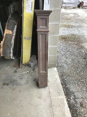 MARK antique oak newell post 5.75 x 5.75 x 46 as found