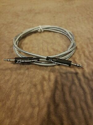 4ft 3.5mm Male To Male Aux Audio Cable OCC Copper with grey braid Audiophile!