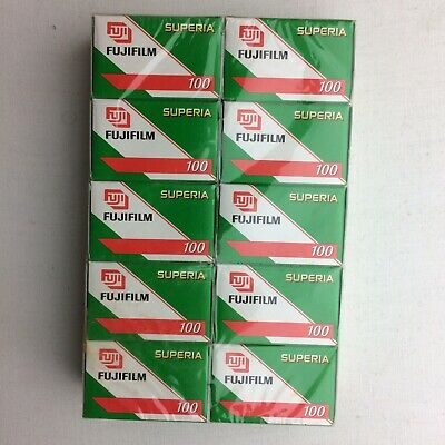 Lot of 10 rolls color negative film Fuji Superia expired 2007 24 Exp
