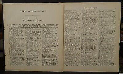 Illinois Lee County Map Patron's Reference Directory 1921 J25#64