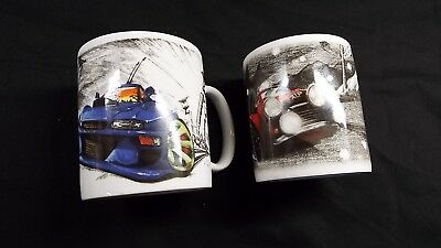 2 Speed Freaks Mugs , Country Artists , Monte & Scoobie , Mini  & Subaru
