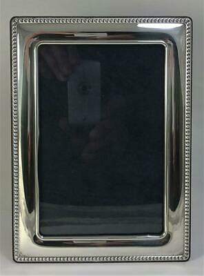 """Vintage hallmarked Sterling Silver Fronted Photo Frame (7.4"""" x 5.3"""") - 2010"""