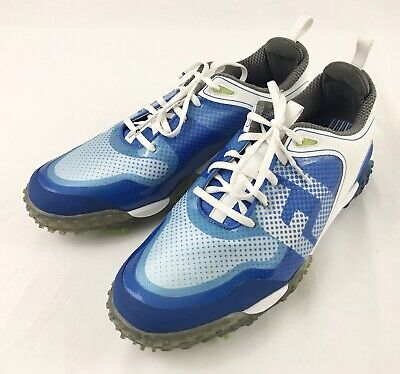 8765c901b2f65f Footjoy Freestyle Softspike Golf Cleats Shoes 57340 Mens Size 10.5 M White  Blue