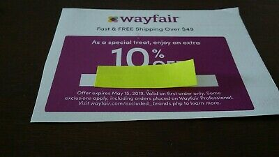 Wayfair Coupon - 10% Off First Order with Shipping Included on Orders Over $49
