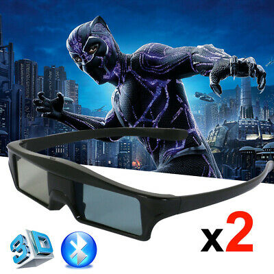Universal Bluetooth Active 3D Glasses for Epson/Samsung USB Rechargeable Home HD