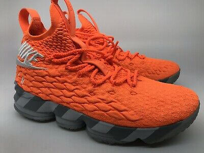 b1ffeaa9caa0 Nike LeBron XV 15 KS2A Orange Box AR5125 800 Men s Sneakers Size 9.5  Preowned