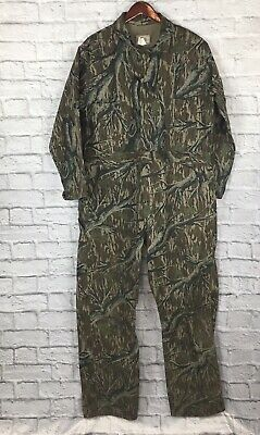 07b140ddb8253 MOSSY OAK VINTAGE Coveralls USA XL Ref Deer Hunting CAMOUFLAGE Camo ...