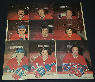 1973-1974 - Montreal Canadiens - Perspectives - Full Page Photos (9) - Original