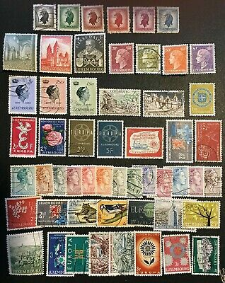 Luxembourg Collection Of Mostly Older Stamps, See Both Pics