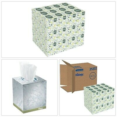 White Facial Tissue Kleenex Durable Soft Blend Fiber Two Ply 95 Sheets 36 Ct New