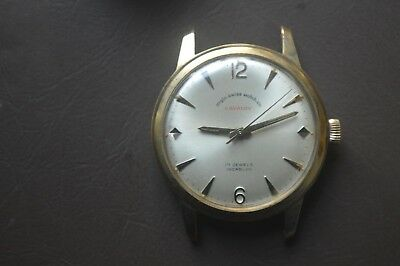 Vintage Anglo Swiss Watch Co.17Jewels  Gold Plated Beautiful Wristwatch Rare