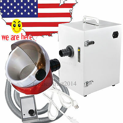 370W USA SALE FDA Dental Single-Row Vacuum Dust Collector  w GIFT suction base