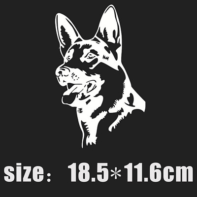 Decorative Glue Sticker Decal Pastor German Shepherd Dog for Car Truck Vehicle