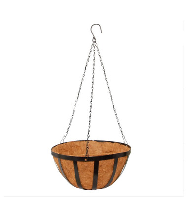Metal Hanging Basket with Insert (35.5cm) for Plants and Flowers