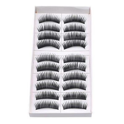 10 Pairs Mink False Eyelashes Wispy Cross Long Thick Soft Fake Eye Lashes B