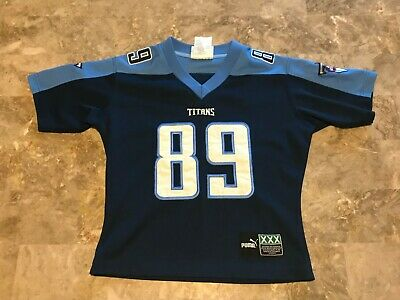 the best attitude a239d 32ca8 VINTAGE PUMA RED FRANK WYCHECK Tennessee Titans Alternate ...