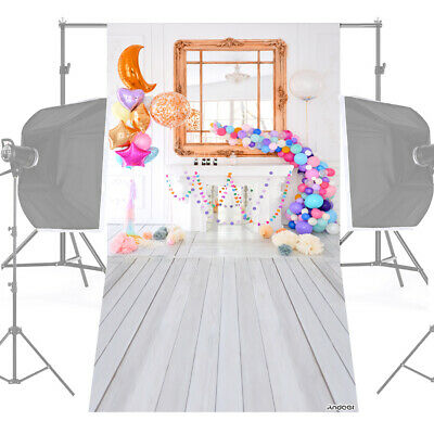 Andoer 1.5 * 0.9m/5 * 3ft Birthday Party Photography Background Balloon O3G0
