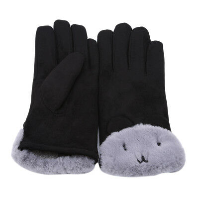 Bear Design Womens Thermal Lined Elegant Gloves Winter Warm Touch Screen Glove B