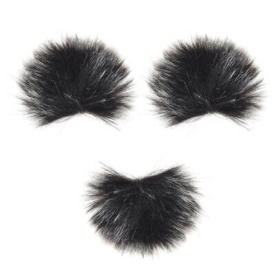 Furry Outdoor Microphone Windscreen Muff Mini Lapel Lavalier Microphone V8D6