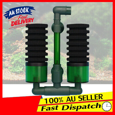 Biochemical Sponge Foam Filter RO Double Head Equipment Aquarium for Fish Tank