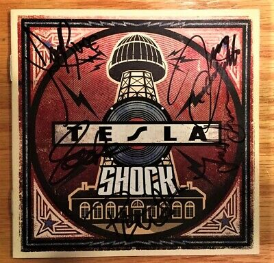 Tesla - Shock CD (Signed by all 5 band members) New 2019 release