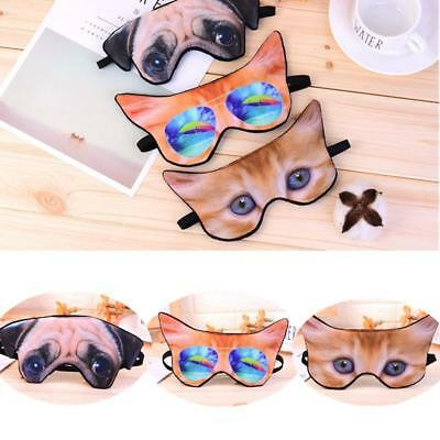 Cartoon Sleep Eye Mask Shade Lovely Cosplay Blindfold Travel Aid Light Guide B