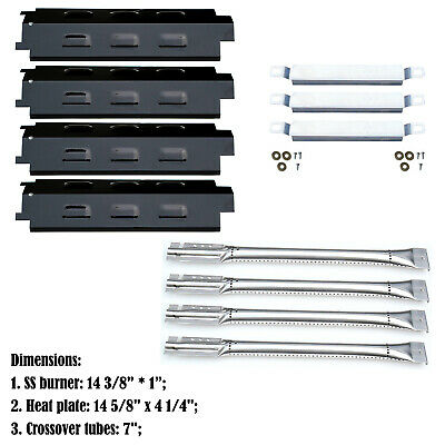 Replacement Charbroil 463440109 Gas Grill Burners, Carryover Tubes, Heat Plates
