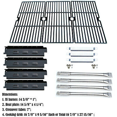 Replacement Charbroil 463440109 Burners,Carryover Tubes,Heat Plates,Grill Grates