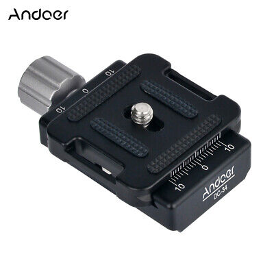 Andoer DC-34 Quick Release Plate Clamp Adapter with One Quick Release Plate X3X5