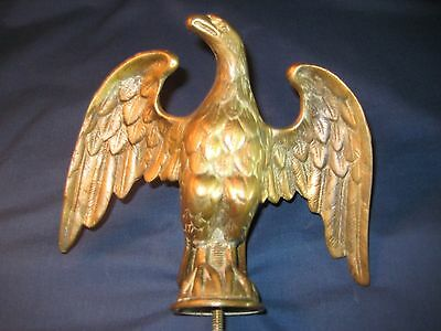 Antique Bronze / Brass American Eagle Flag Pole Topper / Finial